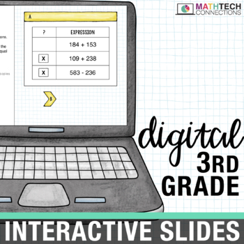 3rd Grade Math Centers - Digital Slides for use with Google Classroom
