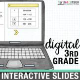 3rd Grade Math Centers - Digital Slides | Google Classroom Activities