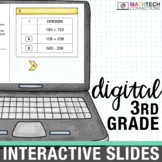 3rd Grade Math Centers - Digital Slides | Google Classroom Activities