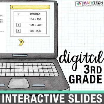 3rd Grade Google Classroom Math Activities | 3rd Grade Digital Math Centers