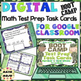 5th Grade Math Digital Task Cards: 5th Grade Boot Camp Test Prep (NF Standards)