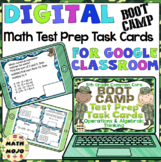 5th Grade Math Digital Task Cards: 5th Grade Boot Camp Test Prep (OA Standards)