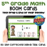 Math Test Prep and Review Digital Task Cards for 5th Grade - BOOM Cards