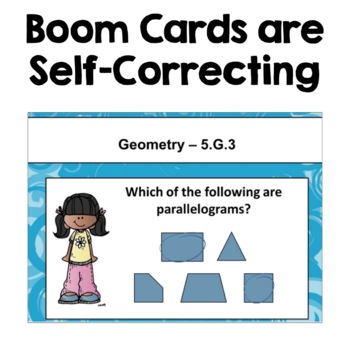 Math Test Prep for 5th Grade Review with BOOM Cards
