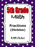 5th Grade Math - Divide Unit Fractions and Whole Numbers - 5.NF.7
