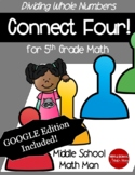 5th Grade Math Game Dividing Whole Numbers Connect Four -