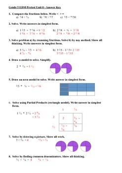 Everyday Math 5th Grade Unit 8 Pretest