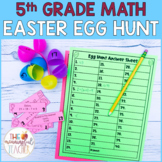 5th Grade Math Review Easter Egg Hunt | EDITABLE