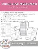 5th Grade Math End of Year Cumulative Assessment
