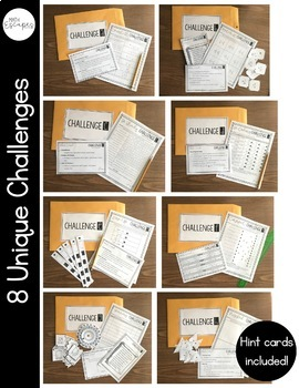 5th Grade Math End of Year Escape Room Activity