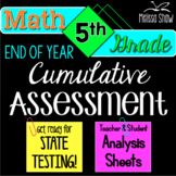 5th Grade Math End of Year Cumulative Practice State Assessment *All Standards*