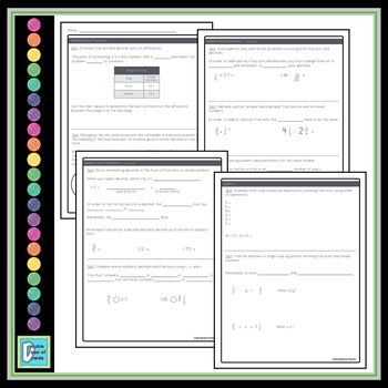 5th Grade Math End of Year Study Guide