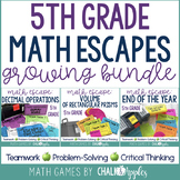 5th Grade Math Escape Games GROWING BUNDLE