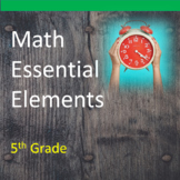 5th Grade Math Essential Elements for Cognitive Disabilities: Data Collection