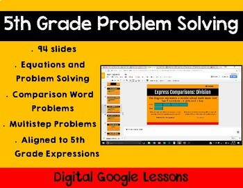 5th Grade Math Expression Unit 6 Digital Lessons for Google Classroom