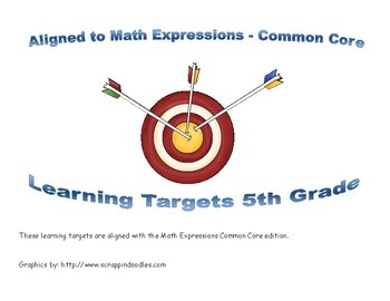5th Grade Math Expressions Learning Targets