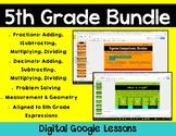5th Grade Math Expressions Digital Lessons Bundle for Google Classroom