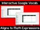 5th Grade Math Expressions Digital Vocabulary