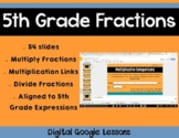 5th Grade Math Expressions Unit 3 Digital Lessons for Google Classroom