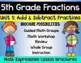 5th Grade Math Expressions Unit 1 Brochures