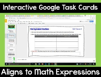 5th Grade Math Expressions Unit 1 Digital Task Cards for Google Classroom