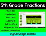 5th Grade Math Expressions Unit 1 Digital Lessons for Goog