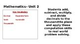 5th Grade Math Expressions Unit 2