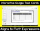 5th Grade Math Expressions Unit 2 Digital Task Cards for Google Classroom