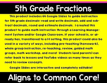 5th Grade Math Expressions Unit 2 Digital Lessons for Google Classroom