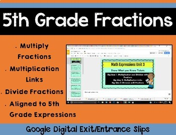 5th Grade Math Expressions Unit 3 Digital Exit Slips