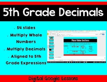 5th Grade Math Expressions Unit 4 Digital Lessons for Google Classroom