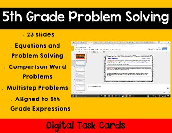 5th Grade Math Expressions Unit 6 Digital Task Cards