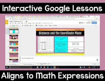 5th Grade Math Expressions Unit 7 Digital Lessons for Google Classroom
