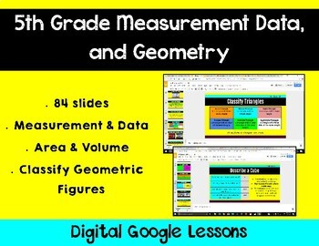 5th Grade Math Expressions Unit 8 Digital Lessons for Google Classroom