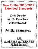 5th Grade Math Extended Standards Practice Test Alabama Alternate Assessment