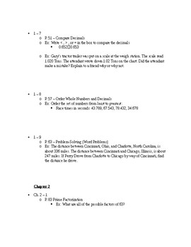 5th Grade Math FINAL EXAM STUDY GUIDE - Extensive!
