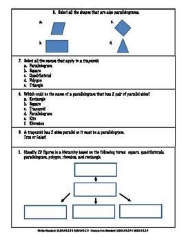 5th Grade FSA Math Assessment – MAFS.5.G.2.3 & MAFS.5.G.2.4