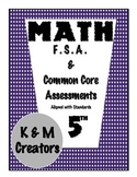 5th Grade Math FSA Assessments for Measurement & Data Bundle