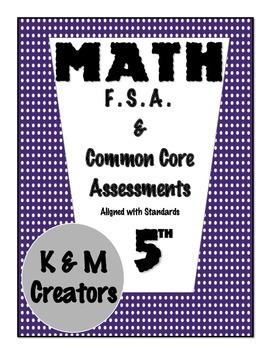 5th Grade Math FSA Assessments for Measurement & Data Bundle