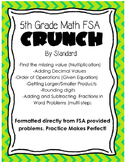 5th Grade Math FSA Crunch: Problems by Standard