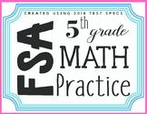 5th Grade Math FSA Test Spec Task Card Review/ Test Prep