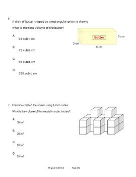 5th Grade Math Final (CCSS)