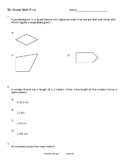 5th Grade Math Final (CCSS)