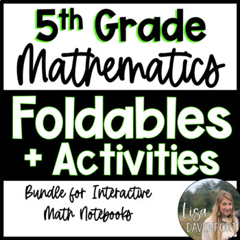 5th Grade Math Foldable & Activity Bundle for Interactive Math Notebooks