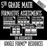 5th Grade Math Formative Assessment BUNDLE for Google Form