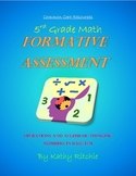 5th Grade Math Formative Assessments for Common Core Standards