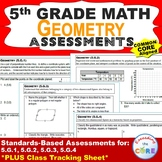5th Grade GEOMETRY Assessments (5.G) Common Core