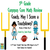 "5th Grade Math Center ""Skills and Test Prep Review Game"""
