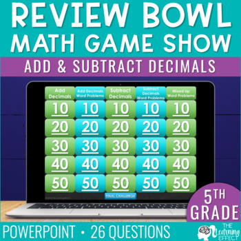5th Grade Math Game - Add and Subtract Decimals