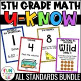 5th Grade Math Game Bundle   U-Know Review Games   Test Prep